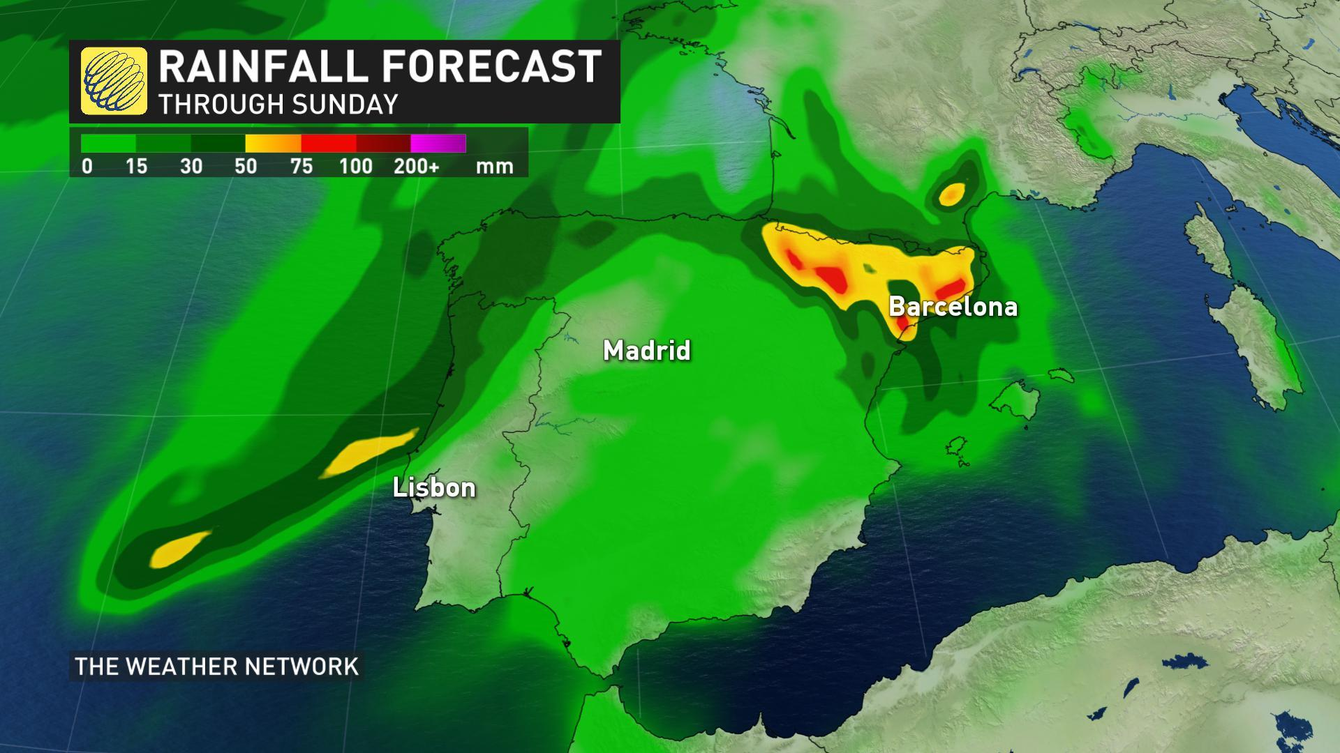 Making A Weather Map.News Rare Post Tropical Storm Leslie Lashes Portugal Spain The