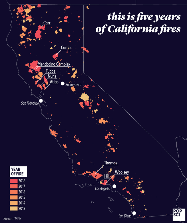 Hill Fire California Map.News How Climate Change Is Fueling California S Wildfires The